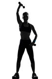 genomkörare för kvinna för vikt för konditionställingsutbildning arkivbilder