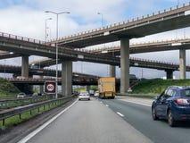 Genomskärning Haag, Nederländerna för motorväg A12 Royaltyfria Foton