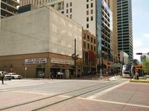 Genomskärning i det Houston centret arkivfoto