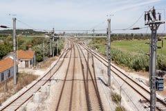 genomskärningsjärnväg Arkivfoto