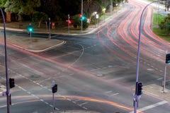 Genomskärningsljusslingor Arkivbild