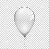 Genomskinlig ballong på enkel bakgrund Royaltyfri Fotografi