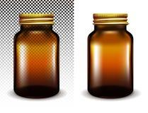 Genomskinlig exponeringsglaskrus för vektor för skönhetsmedel och mediciner royaltyfri illustrationer