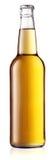 Genomskinlig flaska av ljust öl Royaltyfria Bilder