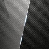 Genomskinlig glass platta med ljus effekt på kolbakgrund Royaltyfri Bild