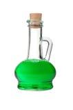 Genomskinlig glass tillbringare med en drink Arkivbild