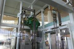 Genomskinlig hiss av t4 terminalen, amoy stad, porslin Royaltyfri Fotografi