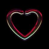 Genomskinlig hjärta Royaltyfri Bild