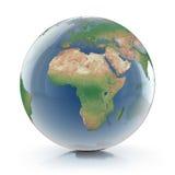 Genomskinlig illustration för jordklot 3d 免版税库存照片