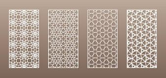 Genomskinlig kontur med den arabiska modellen, geometrisk modell för muslimsk girih Dra som är passande för bakgrund, inbjudan royaltyfri illustrationer