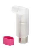 genomskinlig pink för astmahuvinhaler Royaltyfria Foton