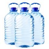 Genomskinlig plast- för stor flaska Royaltyfria Foton