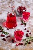 Genomskinlig röd drink Arkivfoton