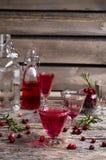 Genomskinlig röd drink Royaltyfri Bild