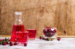Genomskinlig röd drink Arkivbilder