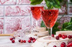 Genomskinlig röd drink Royaltyfria Foton
