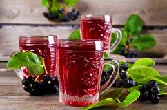 Genomskinlig röd drink royaltyfria bilder