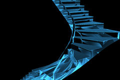 genomskinlig röntgenstråle för blå trappuppgång 3d Royaltyfria Bilder