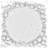Genomskinlig ram för vattenbubblacirkel Arkivbild