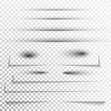 Genomskinlig realistisk pappers- uppsättning för skuggaeffekt Illustration i vektor Skugga för annonsering och det befordrings- m vektor illustrationer