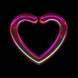 Genomskinlig rosa hjärta Arkivbild