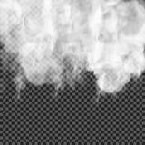 Genomskinlig specialeffekt för dimma eller för rök Vit vektormolnighet, mist eller smogbakgrund också vektor för coreldrawillustr Royaltyfri Bild