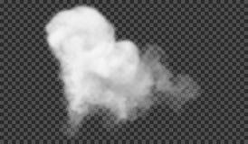 Genomskinlig specialeffekt står ut med dimma eller rök Vit moln, dimma eller smog royaltyfria foton
