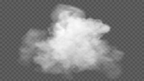 Genomskinlig specialeffekt står ut med dimma eller rök Vit moln, dimma eller smog royaltyfri bild
