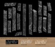 Genomskinlig tejp på svart bakgrund Arkivbilder