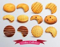 Genomskinlig uppsättning för kakor vektor illustrationer