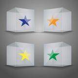 genomskinlig vektor för kubikglass illustration vektor illustrationer