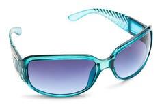 genomskinlig white för blå solglasögon Royaltyfria Bilder