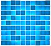 Genomskinliga blåa kuber som bakifrån tänds Royaltyfri Fotografi