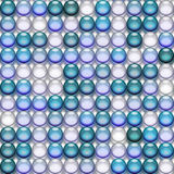genomskinliga blåa marmorar Royaltyfri Foto