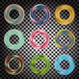 Genomskinliga färgcirklar Arkivbild