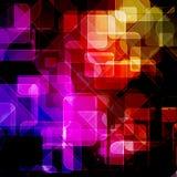 Genomskinliga fyrkanter Arkivbilder