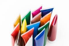Genomskinliga rör för olik färginsida Royaltyfri Fotografi