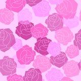 Genomskinliga rosa variationsrosa färger, burgundy färg blom- seamless Arkivfoto