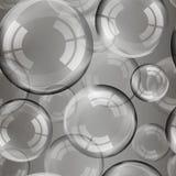 Genomskinliga såpbubblor med regnbågereflexion ställde in isolerade designbeståndsdelar royaltyfri illustrationer