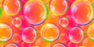 Genomskinliga såpbubblor med regnbågereflexion ställde in isolerade designbeståndsdelar vektor illustrationer