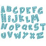 Genomskinligt alfabet Arkivbilder