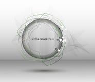Genomskinligt baner för abstrakt rund vektor Arkivfoto