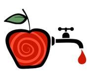 genomskinligt för glass fruktsaft för bild för mat för äpplen för äpple 3d begreppsmässigt fallande naturligt Royaltyfria Bilder