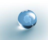 genomskinligt för glass jordklot för jord fast Arkivbilder