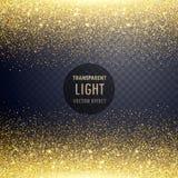genomskinligt guld- blänker bakgrund för ljus effekt Royaltyfri Bild