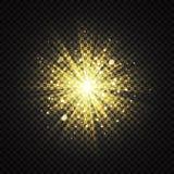 Genomskinligt gult glöda ljust blänker bakgrundseffekt royaltyfri illustrationer