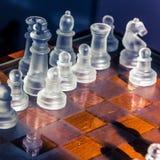 genomskinligt schackexponeringsglas Royaltyfri Bild