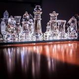genomskinligt schackexponeringsglas Fotografering för Bildbyråer