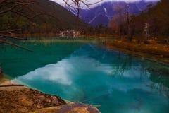 Genomskinligt sjövatten Fotografering för Bildbyråer