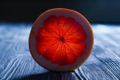 Genomskinligt snitt av en mogen citrus Royaltyfria Bilder